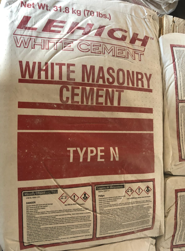 We carry Texas lehigh cement in white, gray type N or S, and portland.